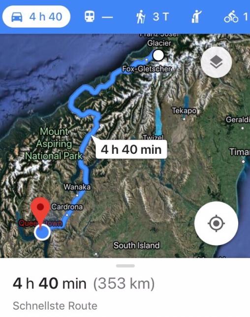 """Die """"eigentliche"""" Route"""